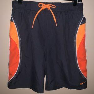 Nike Swim Trunks Gray/Orange Men's Large NWT $34